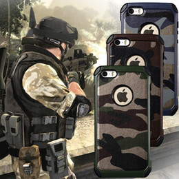 Camouflage Iphone Hard Case Australia - Army Camo Camouflage Pattern back cover for iphone 4 5 5S Hard Plastic Soft Armor protective phone case for iPhone 6 6s 7 8 plus X XS MAX XR