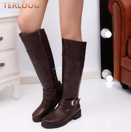 $enCountryForm.capitalKeyWord NZ - Plus size 35-43 Women Casual Lace-Up zipper Motorcycle Mid-Calf boots Autumn Winter women Round Toe flats warm Snow boots X649