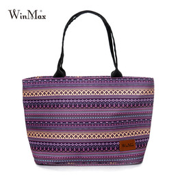 Fruit Cleaner Australia - Winmax 4 Colors Striped Shopping Bag Women Reusable Fruit Grocery Pouch Waterproof Easy Clean Recycle Organization Bag Purple