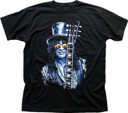 Hot Guitar Neck Australia - Slash Les Paul guitar black printed t-shirt FN9414 summer o neck tee, free shipping cheap tee,2019 hot tees
