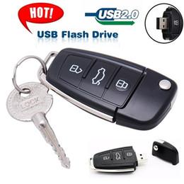 Popular Flash Drive Australia - Hot Sale USB 2.0 Luxury Car Key USB Flash Drive Pendrive 8gb 16gb 32gb 64gb 128gb Memory Stick Pen Drive U Disk for Popular Gift