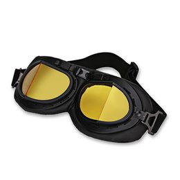 Pilot motorcycle helmets online shopping - Motorbike Helmet Pilot Goggles Jet Pilot Vintage Wwii Goggles Motorcycle Scooter Glasses Uv For Helmet