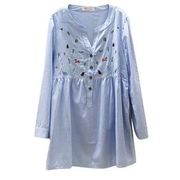 $enCountryForm.capitalKeyWord UK - Pengpious 2019 spring maternity new long-sleeved cotton shirts plus size pregnant women fashion embroidery cotton linen blouses