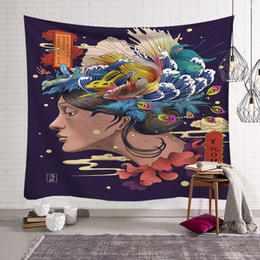 $enCountryForm.capitalKeyWord UK - Japanese style surf cloth Tapestry Hanging Wall Bohemia Polyester Wall Decor Cloth Table Cloth Curtain Home Room Decorative Picnic 150*200