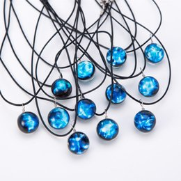 Blue Gemstone Pendant Wholesale Australia - 12 Constellations Blue Gemstone Necklace Rhinestone Pendant Women Designer Jewelry Choker Designer Big Statement Necklace Xmas Gifts