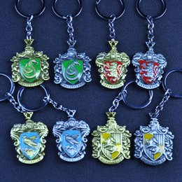 $enCountryForm.capitalKeyWord Australia - Fashion Harry Potter Metal Key Chain Magic School Student Clubs Vintage Style Badge Cellphone Schoolbag Harry Pendant For Movie Fans