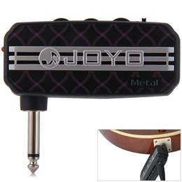 Mini guitar aMps online shopping - JOYO JA metal sound effect Mini Portable Guitar Amplifier Plug Headphone Amp Clean Distortion Sound Effect lp guitar