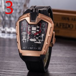 Wholesale 2019 Designer Brand Mens Watch Fashion silicone strap stainless steel Cool Luxury large dial men quartz watches HB Man Sports watch