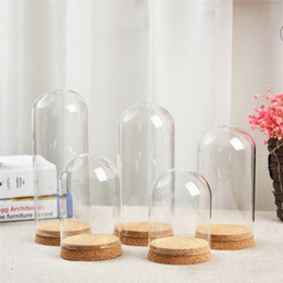 $enCountryForm.capitalKeyWord Australia - 6 X Europe Large Bell Bottle Dome Shape Transparent Jar With Cork Bottom Desttop Mini Garden Container