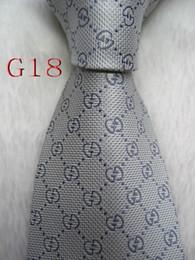 Vente en gros Cravate cravate pour hommes G18 # 100% soie tissée à la main en jacquard