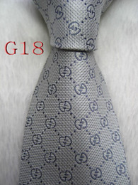 Venta al por mayor de G18 # 100% seda Jacquard corbata tejida a mano tejida para hombre