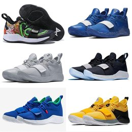 blacks shoes NZ - 2019 Champion PG 2.5 University Red Opti Yellow Men Kids Basketball Shoes Racer blue White Black Wolf Grey Mens Paul George sports sneaee2f#