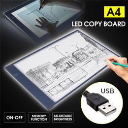 a4 pads UK - LED Graphic Tablet Writing Painting Light Box Tracing Board Copy Pads Digital Drawing Tablet Artcraft A4 Copy Table LED Board