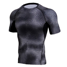 Xs mma shorts online shopping - Compression Shirts Men d Printed T shirts Short Sleeve Fitness Base Layer Tights Mens Crossfit Tops Mma Rashguard Brand Tees