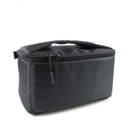 $enCountryForm.capitalKeyWord Australia - DSLR Partition Padded Camera Bag Insert Case Divider Waterproof built-in Insert SLR Camera Bag Portable Nylon Black Gym Bags