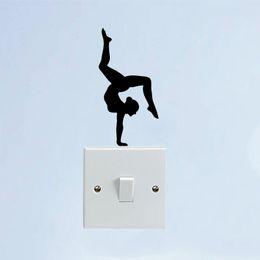 $enCountryForm.capitalKeyWord NZ - Sport Girl Gymnast Yoga Vinyl Door Home Wall Stickers Switch Decals