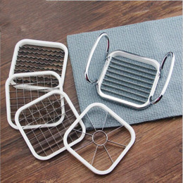 Potato chiPs cutters online shopping - 5 in Kitchen Gadgets Stainless Steel Vegetable Fruit Cutter Shredders Potato Chips Apple Pear French Fries Cutter