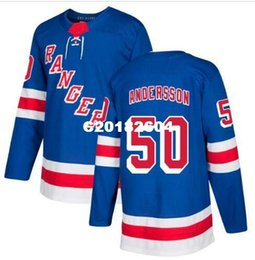 new york rangers jerseys UK - Real Men real Full embroidery #50 Lias Andersson New York Rangers Hockey Jersey or custom any name or number Jersey