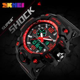 Men S Big Watch Australia - SKMEI New S Shock Sports Watches Big Dial Quartz Digital Watch For Luxury Brand LED Military Waterproof Men Wristwatches C19010301