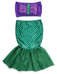 LittLe mermaid cospLay costume online shopping - the little mermaid tail princess ariel dress cosplay costume kids for girl fancy green dress