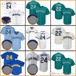 Wholesale Seattle Baseball Jersey Mariners Robinson Cano Ken Griffey Jr Jerseys Mens adult cool base flex adult TOP SALE DGR