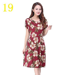 $enCountryForm.capitalKeyWord Australia - New size dress for middle-aged and old mothers with high waist and pocket, Korean version, thin dress with high elasticity and slim figure