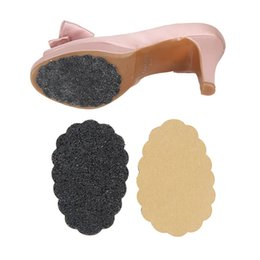 Wholesale Rubber Sole Black Sticker Scrub Anti Slip Frosted Women High Heel Sandals Shoes Sole Petal Shape Sticker Protector