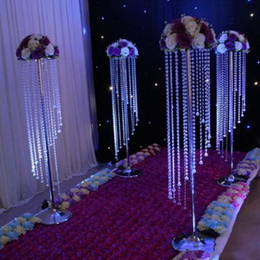 Chinese new year house deCorations online shopping - Sale by Bulk Sparkling Crystal clear garland chandelier wedding cake stand birthday party supplies decorations for table top Centerpieces