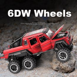 mini rc car 63 NZ - 1:32 6WD Diecast metal G63 Off Road SUV Car Model Vehicles G 63 6X6 Wheels baby kids toys for children NOT RC Y200317