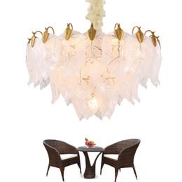 $enCountryForm.capitalKeyWord UK - Delin Luxury Modern Chandelier Lighting For Living Room Luxury Gold Hanging Dining Room Leaves Design Glass Light Fixture