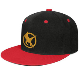 Ball For Game UK - Hunger Games logo Red for men and women hip-hop flat brim cap design fitted golf sports fashion baseball personalized unique original flat