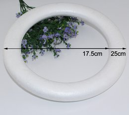 Ring Christmas Ornament Australia - hristmas Christmas Ball Ornaments CCINEE 16cm 24cm Wholesale Modelling Polystyrene Styrofoam Foam Ring White Craft for DIY and toy shape ...