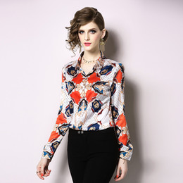$enCountryForm.capitalKeyWord Australia - Luxury Runway Women's Fashion Spring Fall Floral Print Blouses Shirts Elegant Office Lady Sexy Slim Street Style Celebrity Shirts Tops
