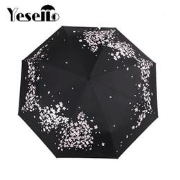 Umbrella Anti UK - Yesello SAKURA Anti-UV Folding Sunny And Rainny Umbrella For Women