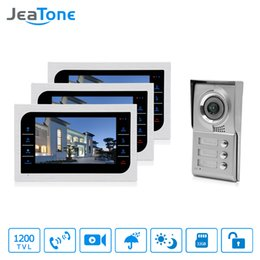 Security SyStem doorbell online shopping - JeaTone Home Security Video Intercom System quot LCD Video Door Phone Touch Key Panel IR Home Video Doorbell For Apartments