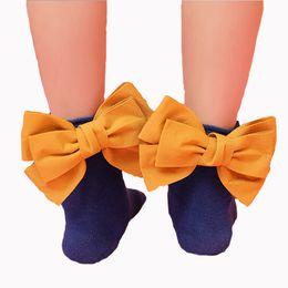 Sock Packs Australia - 35074 Newly girls socks hell bowknot cotton fashion autumn sweet children kids socks 1 pairs pack