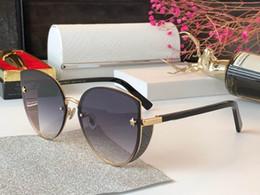 Cat S Eye Sunglasses Australia - New Luxury designer women DANB-S Sunglasses charming Cat eye Pentagram eyewear metal flash beads design galsses 100% UV400 protection