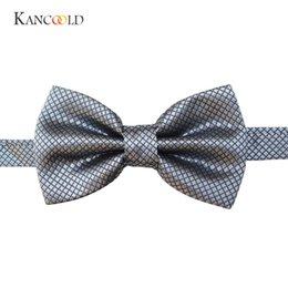 KANCOOLD papillon Fashion Novelty Picture Classics 20 Camicia da uomo in seta di colore solido blu con fiocco C2JAN22