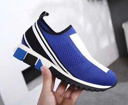 Großhandel Luxus-Mode Sorrento Sneaker Herren-Designer-Schuhe Stoff Stretch Jersey Slip-on Sneaker Lady Zwei-Ton-Gummi Micro Sole Freizeitschuhe 1027