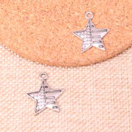 Discount made usa charm 86pcs Charms usa flag star 23*20mm Antique Making pendant fit,Vintage Tibetan Silver,DIY Handmade Jewelry