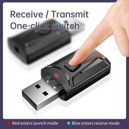 desktop audio player NZ - Mini Wireless Bluetooth Receiver function 2 in 1 Car Audio Headphone Player TV Notebook desktop Adapter Convenience received finger touch