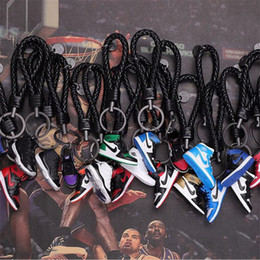 Key shoe online shopping - Keychain AJ Key Ring Accessories Charms Sneaker Shoes D Mobile Phone Strap Lanyard Basketball Shoes Model Popular Gift