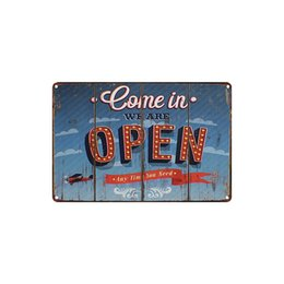 Beer Signs Wholesale UK - classic vintage COME IN WE ARE OPEN GUINNESS PAULANER BETTER BEER MY SUNSHINE tin sign Coffee Shop Bar decoration Bar Metal Paintings