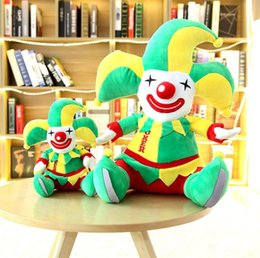toy clown NZ - 48cm Plush Animals Clown doll bear Stuffed animal teddy bear cover plush soft toy doll pillow cover kids baby adult gift