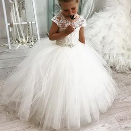 kids girl evening dress Canada - New Lace Flower Girl Dresses For Weddings Vestidos daminha Kids Evening Gowns First Communion Dresses For Girls