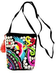 ff5723f9e4e Cheap New Fashion Embroidery Samll Women Shopping bags!Multi Floral  embroidered Shoulder Crossbody bag Bohemian Canvas Flap Carrier