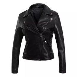Wholesale black moto pu jacket for sale - Group buy New Arrival Black Tassel Faux Leather Jackets Women High Quality PU Outwear Coats Moto Biker Cool Clothes For Ladies XJ0002