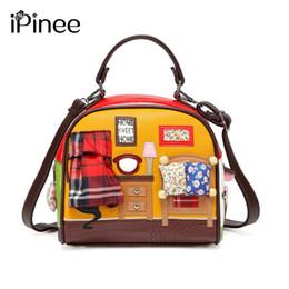 Ladies handbags itaLy online shopping - Ipinee Fashion Women Shoulder Bag Italy Braccialini Handbag Style Retro Handmade Stylish Woman Messenger Bags J190513