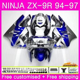 $enCountryForm.capitalKeyWord Australia - Bodys For KAWASAKI NINJA ZX 9R ZX900 ZX-9R 94 95 96 97 Kit 69HM.9 ZX 9 R 94 97 900CC ZX9R 1994 1995 1996 1997 Full Sale Blue silver Fairing