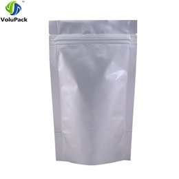 "$enCountryForm.capitalKeyWord Australia - 12x20cm (4.75x7.75"") pure aluminum foil Stand up pouch  Self Seal mylar Zipper top food packaging bags tea coffee powder"